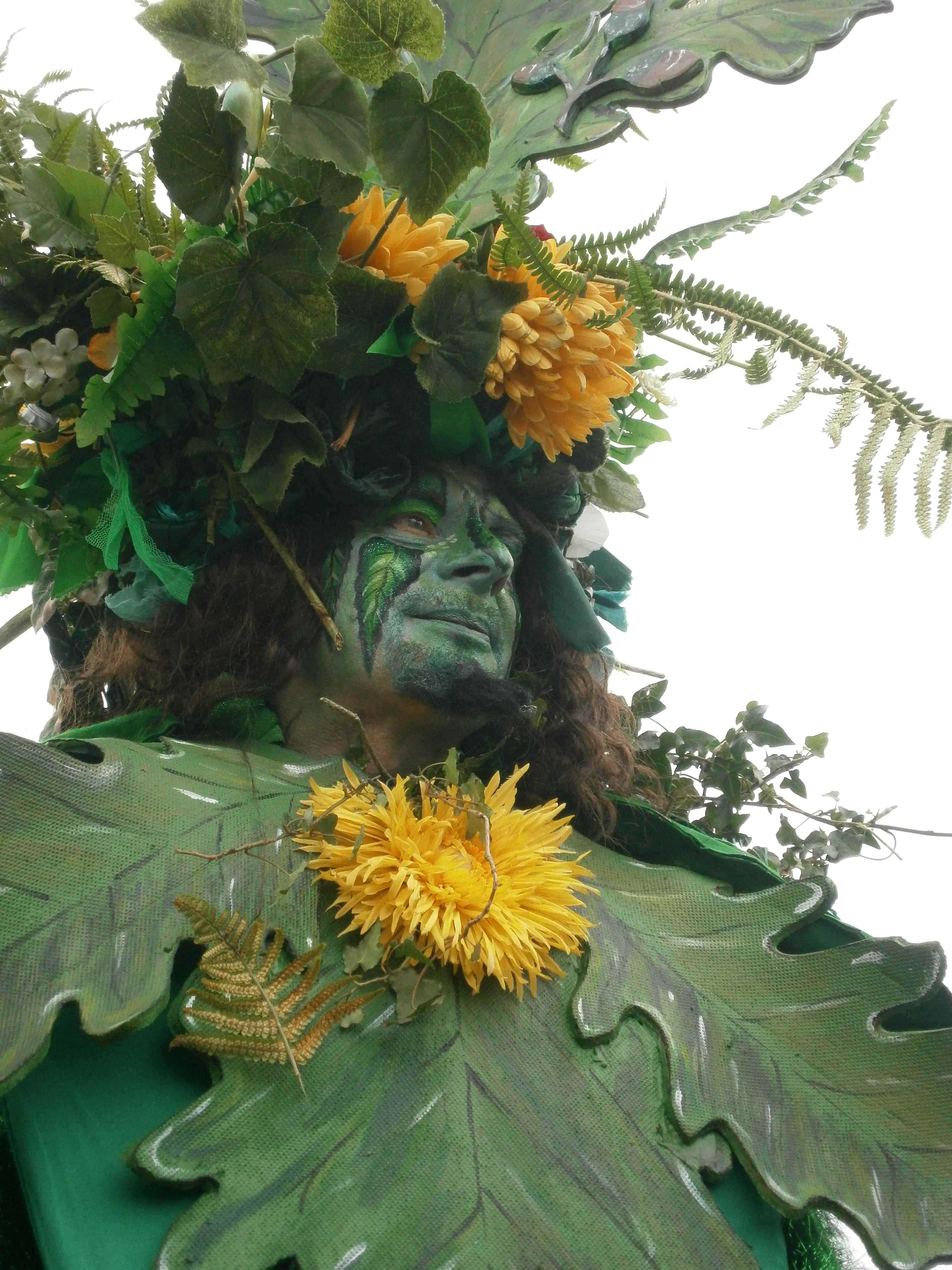 Laurie in Green Man costume