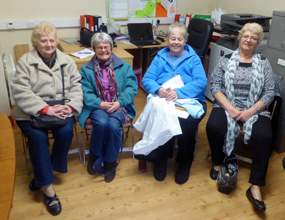 (left to right) Margaret, Jean, Maureen and Marion at The Pilton Story