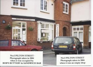 Bobs Buttery No2 Pilton Street 2004 and empty No3 2004